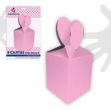 Cajitas para regalo rosas 8 unidades