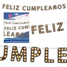 Guirnalda Feliz Cumpleaños Luces 1u.