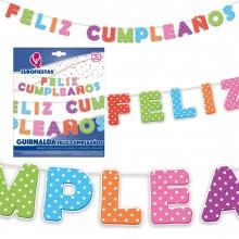 Guirnalda Feliz Cumpleaños Lunares 1u.
