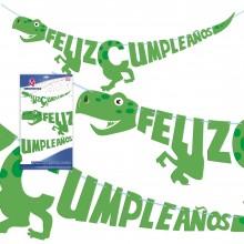 Guirnalda Feliz Cumpleaños Dinosaurio 1u.