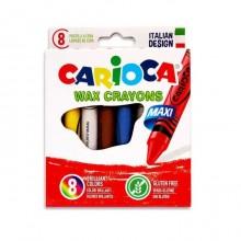 Lápices de cera Carioca 8 unidades