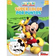 Libro Súper color por puntos Mickey Mouse