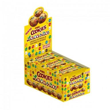 Mini madalenas integrales caja de 8 bolsas de 12 unidades.