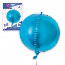 Globo de Poliamida Azul Redondo 4D 60cm.