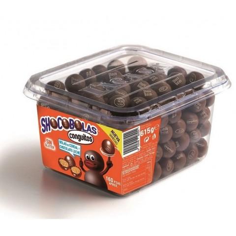 Shocobolas chocolate con leche Tarro 160u.