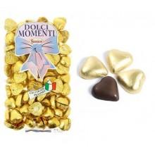 Corazones de chocolate ORO 1kg.