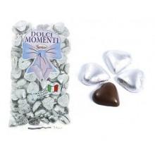 Corazones de chocolate PLATA 1kg.