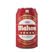 Cerveza Mahou Cinco Estrellas lata 33cl pack 8 unidades