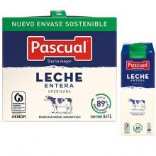 Leche ENTERA Pascual 1L pack 6 unidades