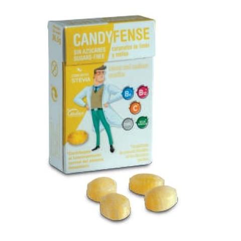 Caramelos Candyfense veganos s/a Limón y Melisa cajitas 20u.