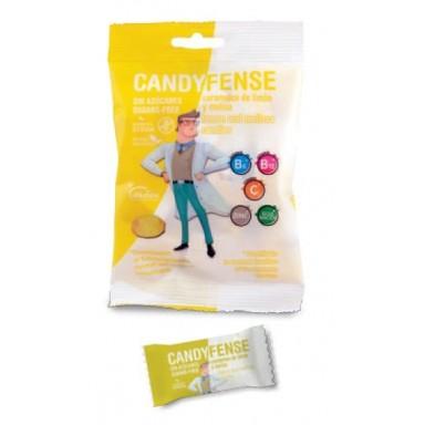 Caramelos Candyfense veganos s/a Limón y Melisa bolsitas 20u.