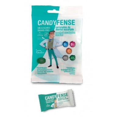 Caramelos Candyfense veganos s/a Mentol Eucalipto bolsitas 20u.