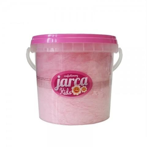 Algodón de azúcar sabor fresa cubo 85 gramos.