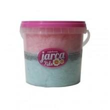 Algodón de azúcar 2 sabores fresa y frambuesa cubo 85 gramos.