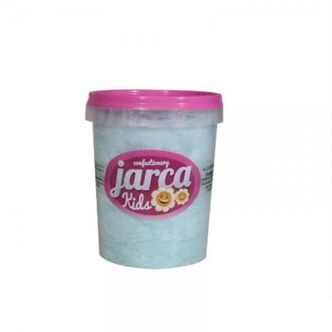 Algodón de azúcar sabor frambuesa cubo pequeño