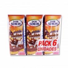 Batido de Chocolate Don Simon 200ml pack 6 unidades