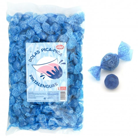 Caramelos Gerio bolas pica-pica pintalenguas 1kg.