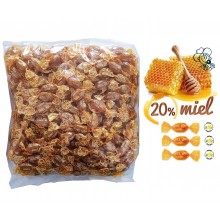 Caramelos Cerdán de Limón con 20% Miel 1kg.