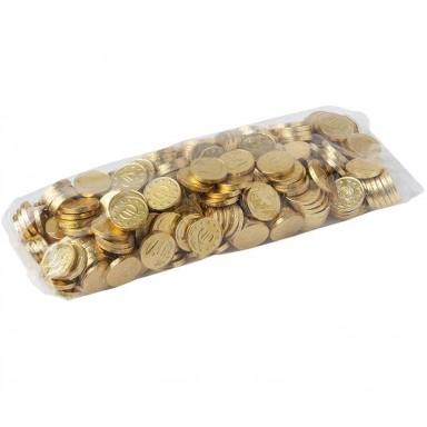 Monedas de chocolate doradas bolsa 300u.